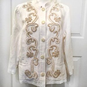 Chico's Women's Linen Embroidered